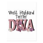 West Highland Terrier DIVA Postcard
