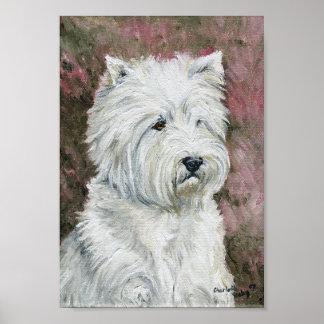"""West Highland Terrier"" Dog Art Canvas Print"