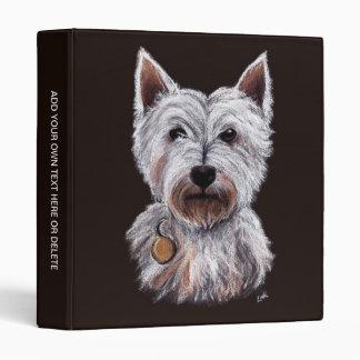 West Highland Terrier Dog Pastel Pet Illustration Binder