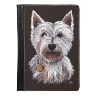 West Highland Terrier Dog Pastel Pet Illustration iPad Air Case