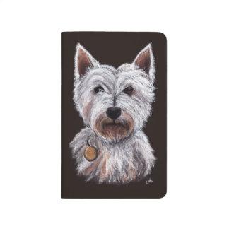 West Highland Terrier Dog Pastel Pet Illustration Journal