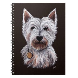 West Highland Terrier Dog Pastel Pet Illustration Notebook