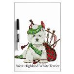 West Highland Terrier Dry Erase Board