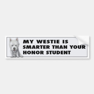 West Highland Terrier Honor Bumper Stickers
