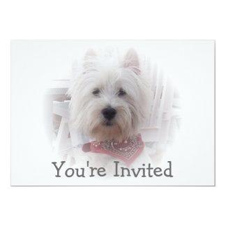 West Highland Terrier Invitation