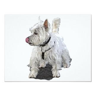 "West Highland Terrier 4.25"" X 5.5"" Invitation Card"