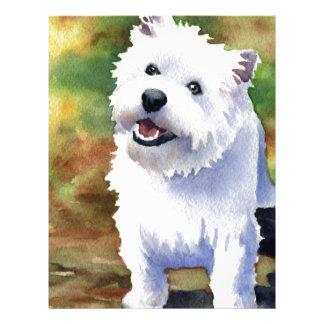West Highland Terrier Letterhead