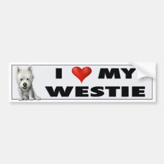 West Highland Terrier Love Sticker Bumper Stickers