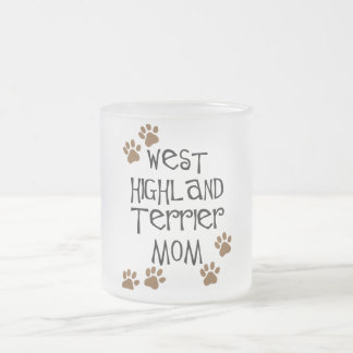 West Highland Terrier Mom Frosted Glass Coffee Mug
