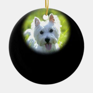 West Highland Terrier Round Ceramic Decoration