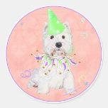 West Highland Terrier Party Classic Round Sticker
