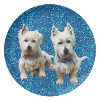 West Highland Terrier Plates. Dinner Plate