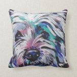 West Highland Terrier Pop Art Pillow