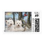 West Highland Terrier Postage Stamps