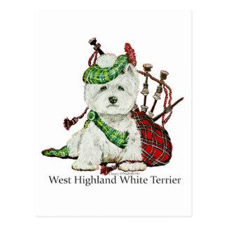 West Highland Terrier Post Card