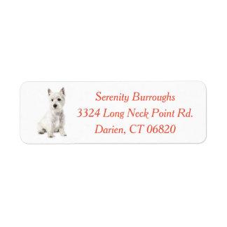 West Highland Terrier Puppy Dog Red Label