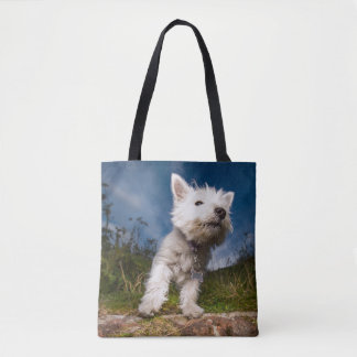 West Highland Terrier Puppy Tote Bag