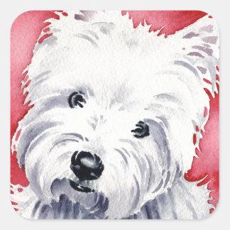 West Highland Terrier Square Sticker
