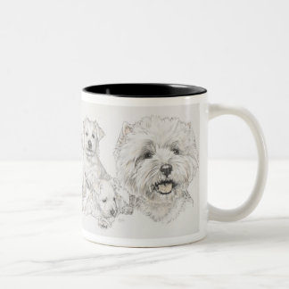 West Highland Terrier Two-Tone Coffee Mug