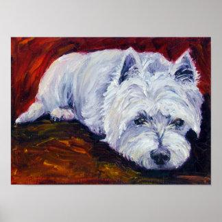 West Highland Terrier Wall Print