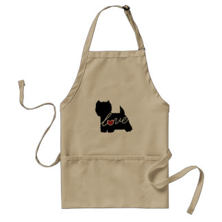 West Highland Terrier (Westie) Love Adult Apron