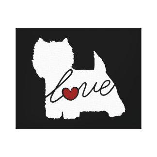 West Highland Terrier (Westie) Love Canvas Print