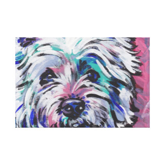 West Highland Terrier Westie Pop Art Canvas Print