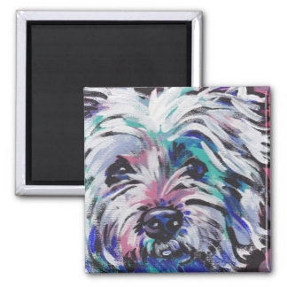 West Highland Terrier Westie pop art magnet