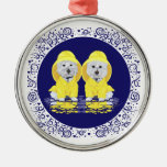 West Highland Terriers April Showers Christmas Ornament