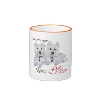 West Highland Terriers Mother's Day Ringer Mug