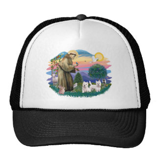 West Highland Terriers (two) Trucker Hat