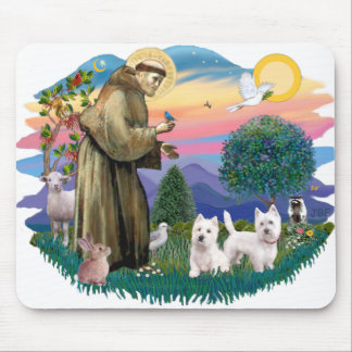 West Highland Terriers (two) Mouse Pad