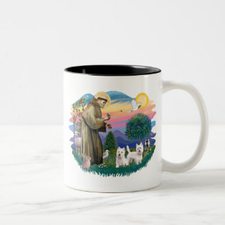 West Highland Terriers (two) Two-Tone Coffee Mug