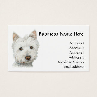 West Highland White Cute Dog Business Card