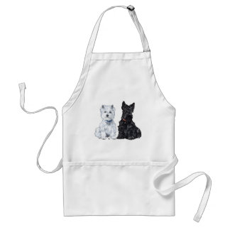 West Highland White & Scottish Terriers Adult Apron