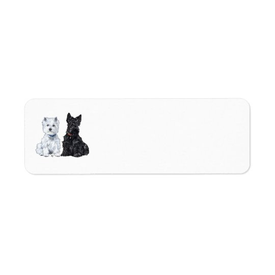 West Highland White & Scottish Terriers Label