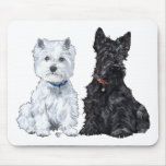 West Highland White & Scottish Terriers Mouse Pad