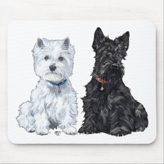 West Highland White Scottish Terriers Mouse Pad