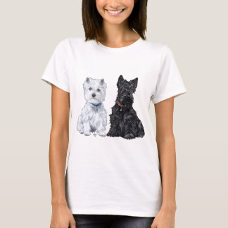 West Highland White & Scottish Terriers T-Shirt