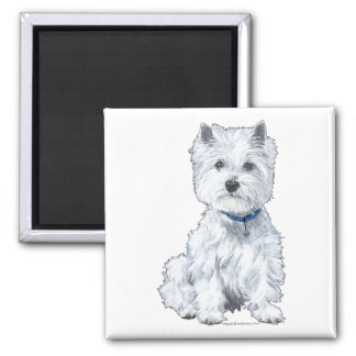 West Highland White Terrier 2 Inch Square Magnet