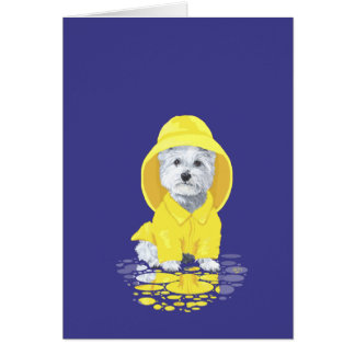 West Highland White Terrier April Showers Card