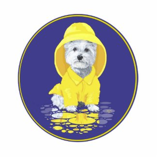 West Highland White Terrier April Showers Cutout