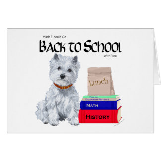 West Highland White Terrier Back to School Card