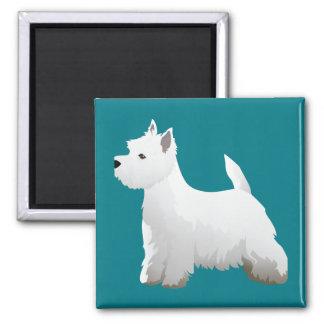 West Highland White Terrier Basic Breed Design Magnet
