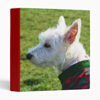 West Highland White Terrier binder
