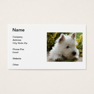 West Highland White Terrier Business Card