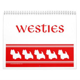 West Highland White Terrier CALENDAR