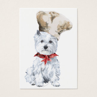 West Highland White Terrier Chef Business Card