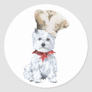 West Highland White Terrier Chef Classic Round Sticker