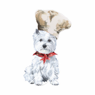 West Highland White Terrier Chef Cutout